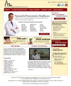 Alternative Integrated Medical Services, LLC - Healthcare Website Design