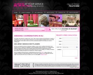 Kathy Goldstein Event Planner - Entertainment Website Design
