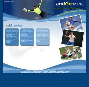 AndGo Sports - Other Services Website Design