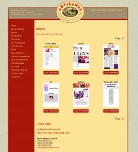 Artisanal Bistro - Food Website Design