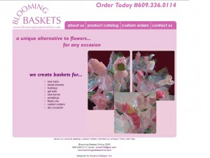 blooming baskets retail ecommerce website