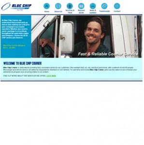 Blue Chip Courier website development
