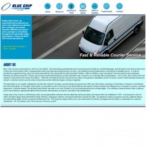 Blue Chip Courier website development website design