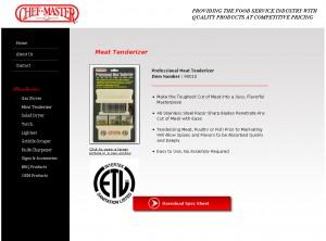 ChefMaster - Retail Website Design
