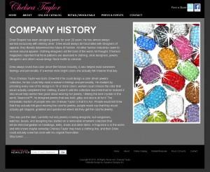 Chelsea Taylor - Retail Website Design