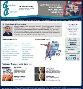 Cornerstone Chiropractic and Rehabilitation - Healthcare Website Design