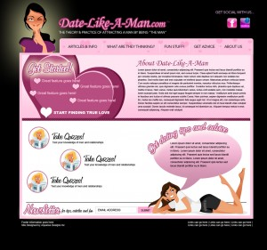 Date Like a Man - Other Services Website Design