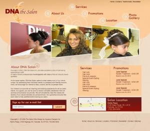 DNA the Salon website design