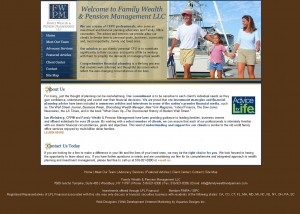 Family Wealth & Pension Management - Financial Website Design