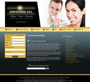 Howell Dental - Dr. Jason Goldberg - Healthcare Website Design