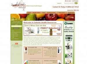 Infinite Health Resources - Retail Website Design