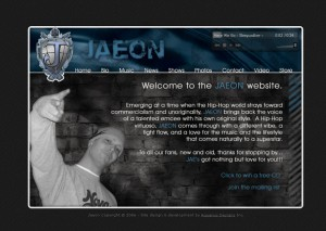 JAEON - Rap Artist - Entertainment Website Design
