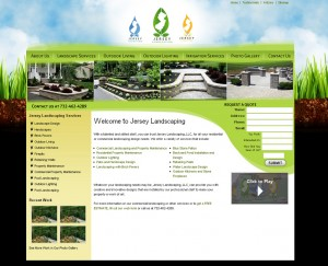 Jersey Landscaping - Landscaping Website Design