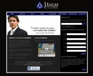 J. Lucas Clothiers - Retail Website Design