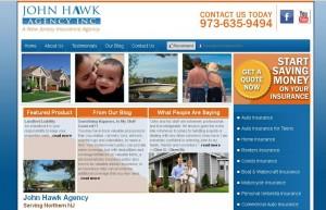 john hawk insurance agency website design