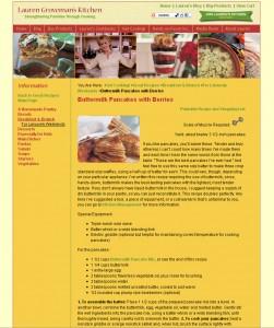 Lauren Groveman Kitchen - Food Website Design