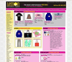 Lemon Pound Cake - Retail Website Design