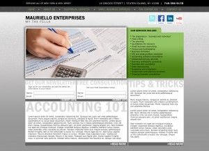 mauriello enterprises cpa website design