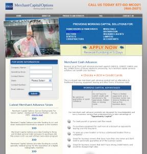 merchant capital financial website design