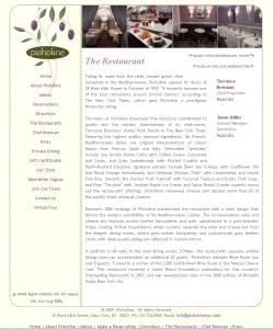 Picholine - Food Website Design