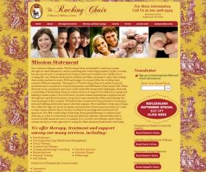 The Rocking Chair - Womens Wellness Center - Healthcare Website Design