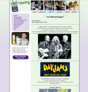 Rock CAN Roll - Non-Profit Website Design