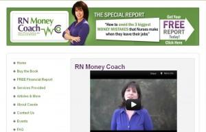 rn money coach financial website design