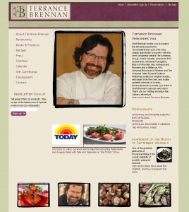 Terrance Brennan - Food Website Design
