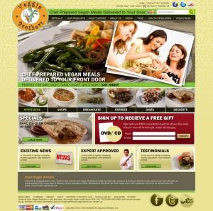Veggie Brothers - Food Website Design
