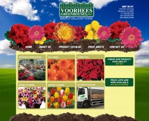 Voorhees Greenhouses - Landscaping Design Website