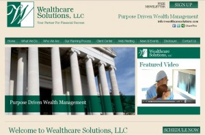 wealthcare solutions financial website design