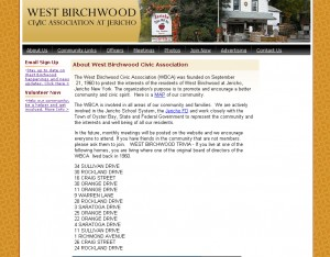 West Birchwood Civic Association - Non-Profit Website Design